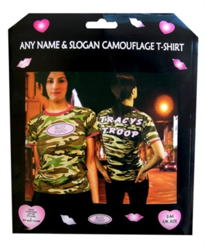 Personalised Hen Party Camouflage T-Shirt