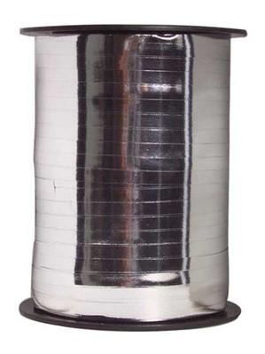 Metallic Silver Balloon Ribbon 250m