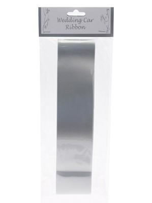 Wedding Car Ribbon 9m - Silver