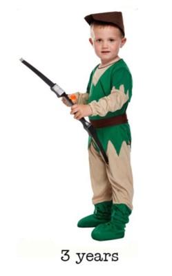 Children's Robin Hood Fancy Dress Costume - Toddler