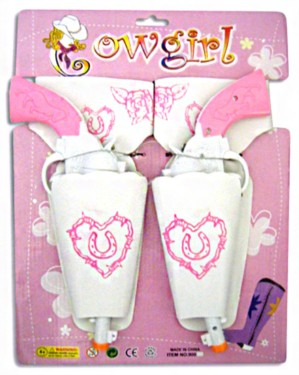 Cowgirl Twin Holster Toy