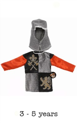 Children's Knight Fancy Dress Costume - 3 - 5 yrs
