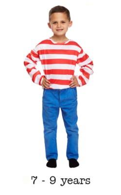 Child Striped Jumper Fancy Dress 7 - 9 yrs