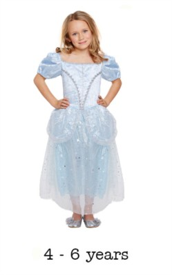 Children's Like Cinderella Princess Fancy Dress Costume 4 - 6 yrs