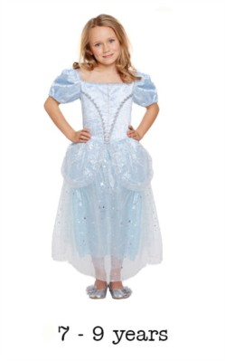 Children's Like Cinderella Fancy Dress Costume 7 - 9 yrs