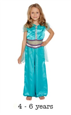 Children's Arabian Princess Fancy Dress Costume 4 - 6 yrs