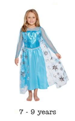 Children's Ice Queen Elsa Style Fancy Dress Costume 7 - 9 yrs