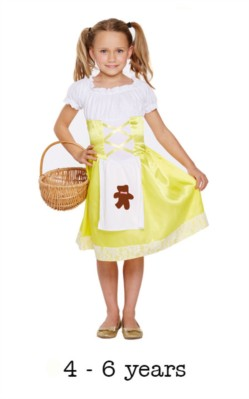 Children's Goldilocks Inspired Book Day Fancy Dress Costume 4 - 6 yrs