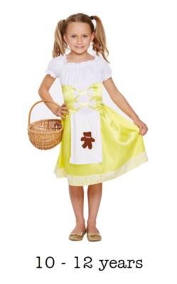 Children's Goldilocks Style Book Day Fancy Dress Costume 10 - 12 yrs