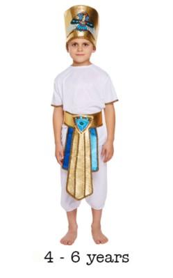 Children's Egyptian Boy Fancy Dress Costume 4 - 6 yrs