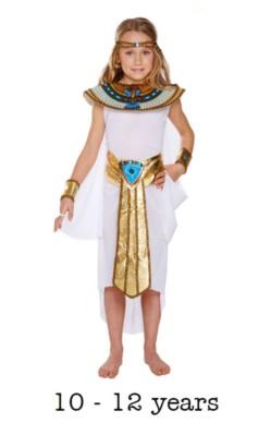 Children's Egyptian Girl Fancy Dress Costume 10 - 12 yrs