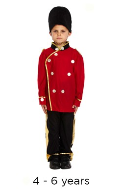 Child London Busby Guard Fancy Dress Costume 4 - 6 yrs