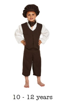 Children's Oliver Twist Victorian Fancy Dress Costume 10 - 12 yrs