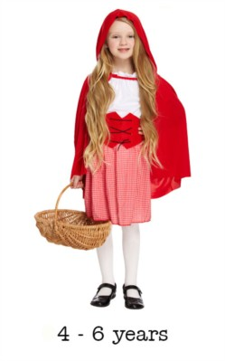 Children's Red Riding Hood Book Day Fancy Dress Costume 4 - 6 yrs