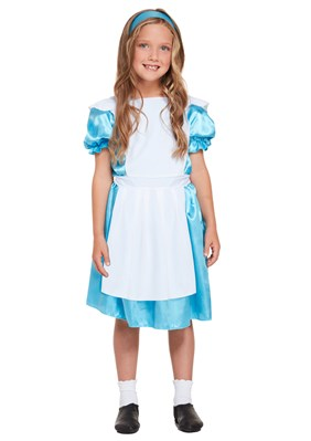 Children's Alice In Wonderland Costume Ages 4 -12 yrs