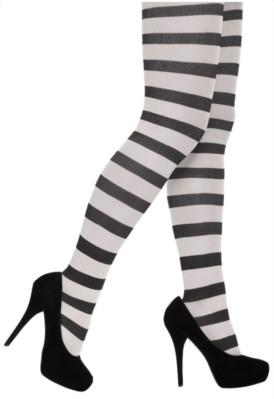 Black & White Stripy Tights