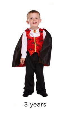 Halloween Little Vampire Fancy Dress Costume - Toddler