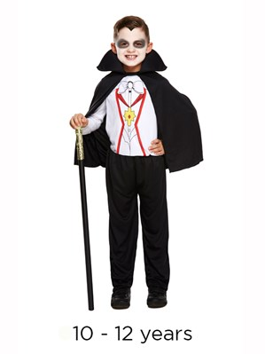 Child Halloween Vampire Fancy Dress Costume 10 - 12 yrs