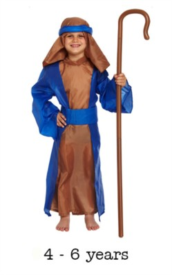Child Shepherd Christmas Nativity Fancy Dress Costume 4 - 6 yrs