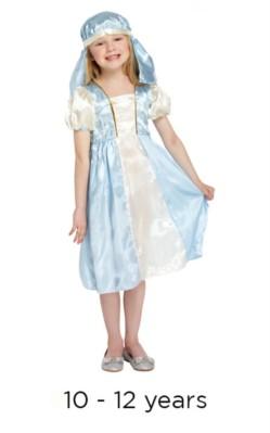 Child Christmas Nativity Mary Fancy Dress Costume 10 - 12 yrs