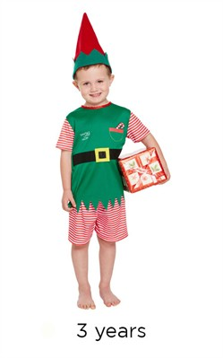 Christmas Santa's Little Helper Male Fancy Dress Costume - Toddler