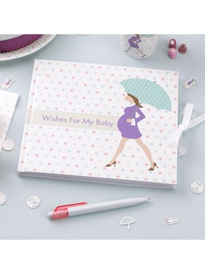 Showered with Love Baby Shower Guest Book