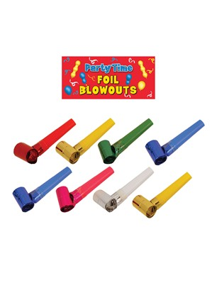 Metallic Foil Blowouts 8pk