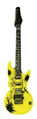 Neon Yellow Inflatable Guitar