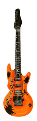 Neon Orange Inflatable Guitar