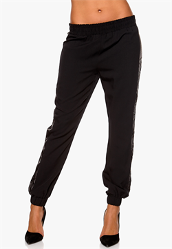 Panel PU Pants Black