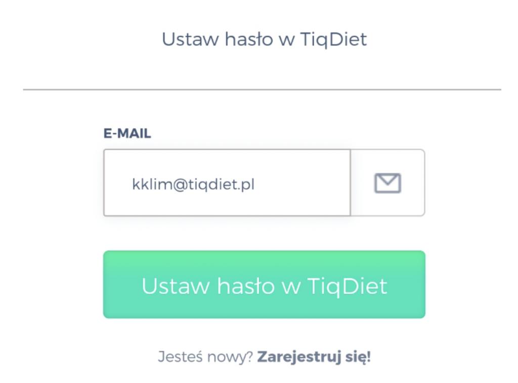 Ustaw hasło w Tiqdiet
