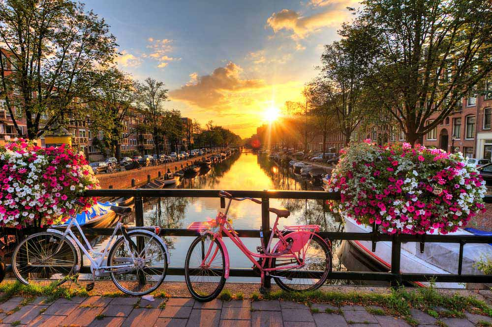 Amsterdam is one of the romantic city breaks in Europe