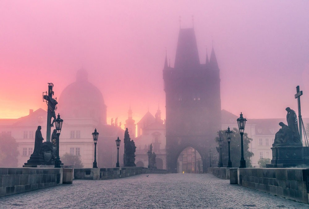 Charles bridge in Prague is one of our romantic city breaks