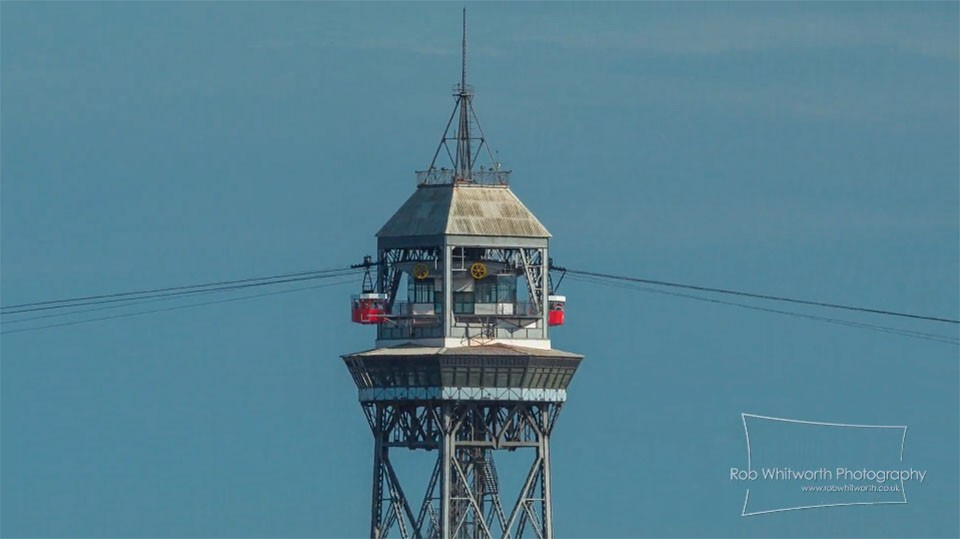 montjuic cable car barcelona time-lapse video