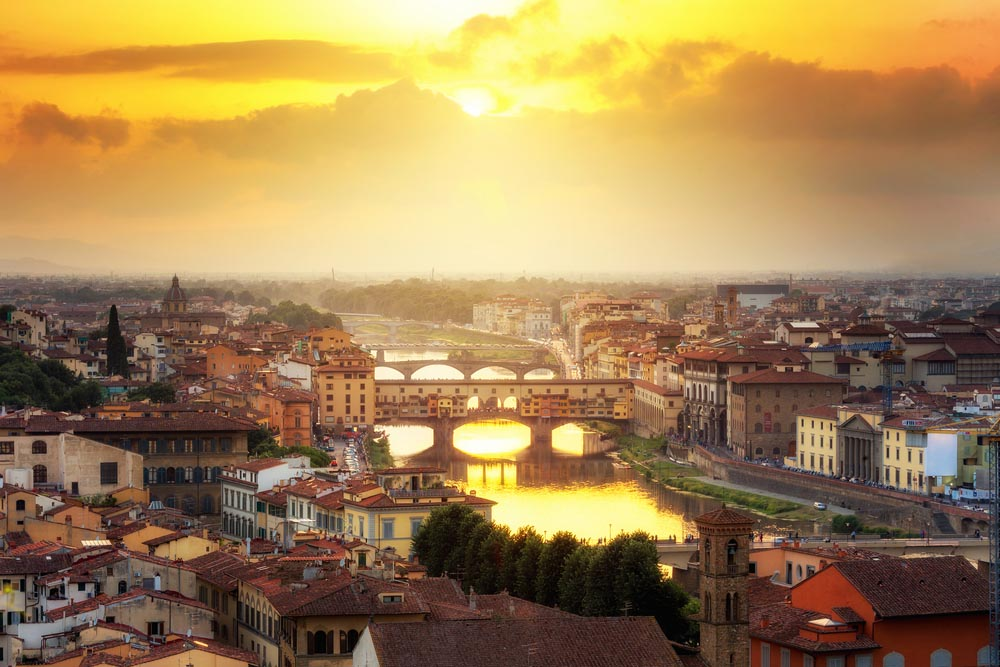 Florence is one of the romantic city breaks in Europe