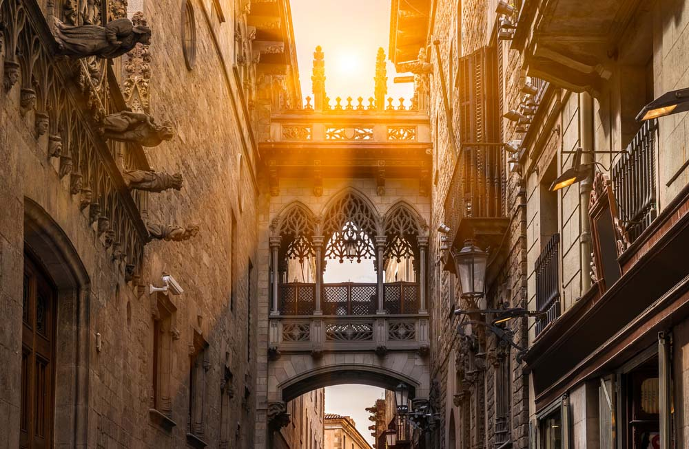 Barcelona is one of the romantic city breaks in Europe