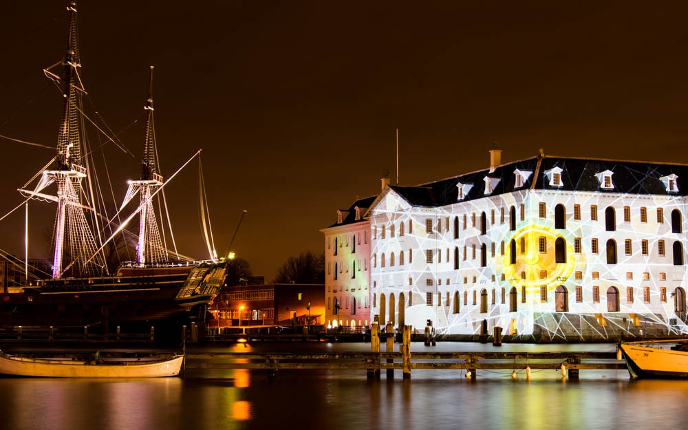 The Scheepvaartmuseum is a museum that capture the history of Amsterdam
