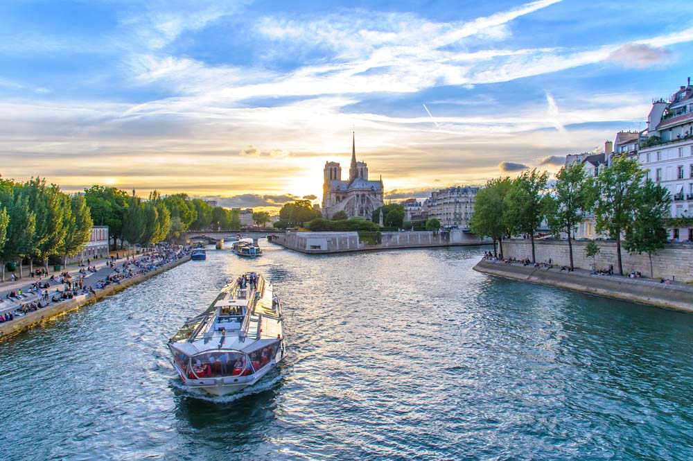 the seine is a great example of dinner cruises in europe