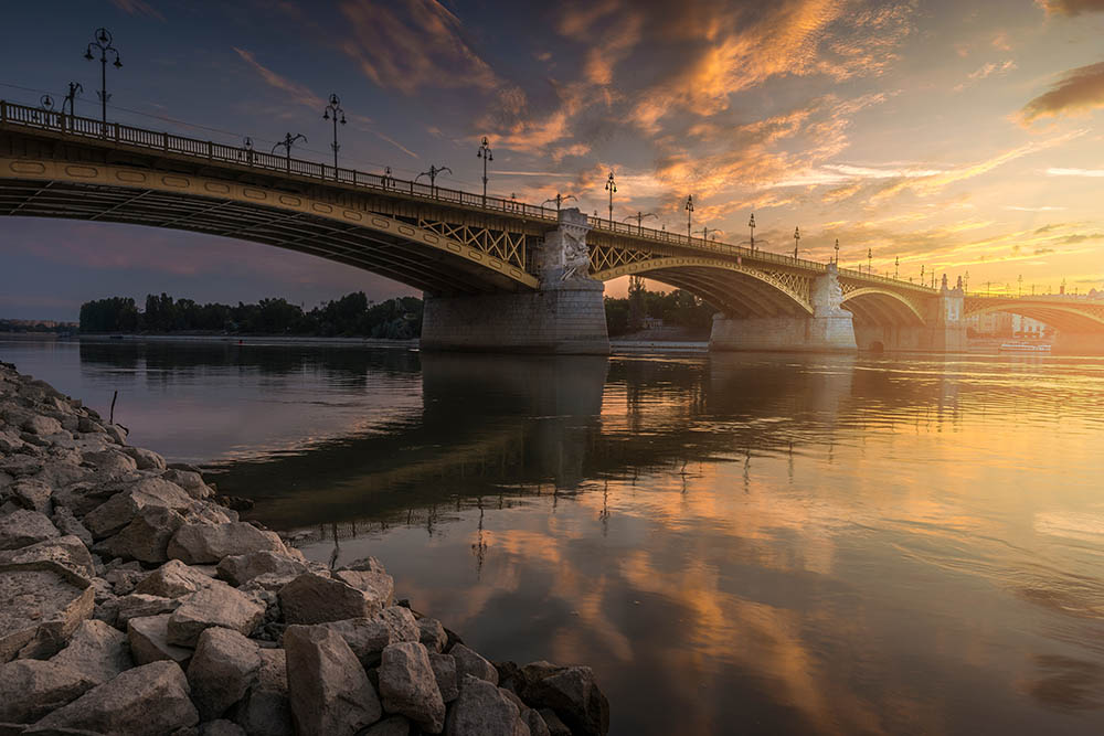 enjoy sunset over the danube on your budapest getaway