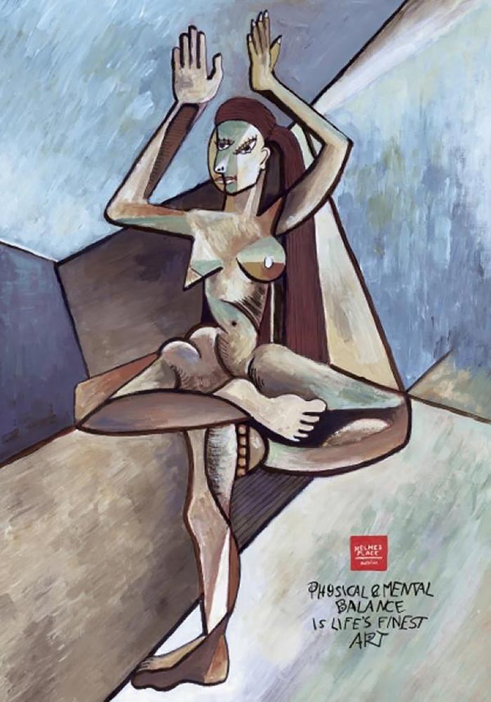 advertisements inspired by famous artists: Picasso gym ad