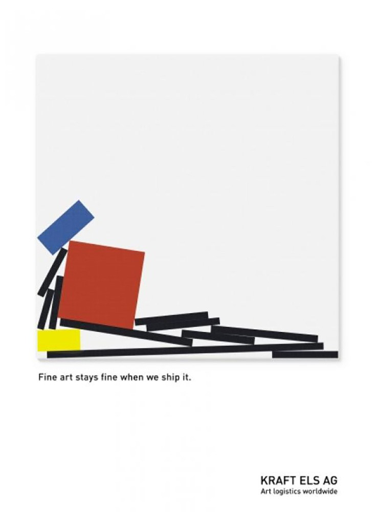 advertisements inspired by famous artists: mondrian shipping