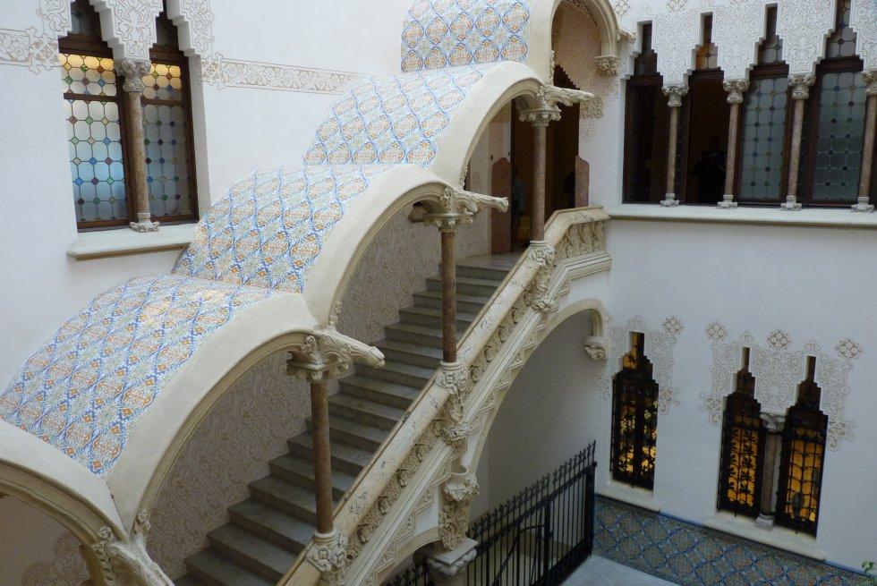 The interior of Casa Macaya, a free-to-enter Modernist site designed by Josep Puig i Cadafalch.