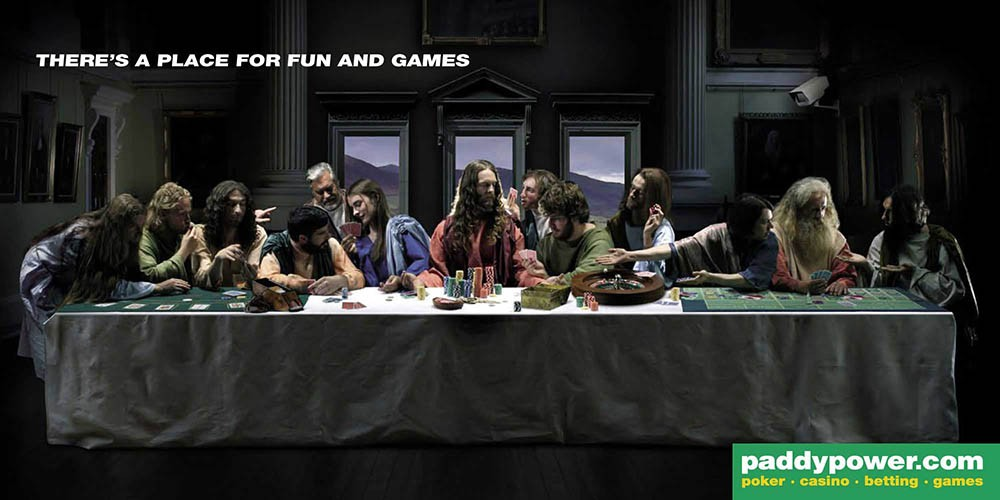 advertisements inspired by famous artists: da vinci's last supper