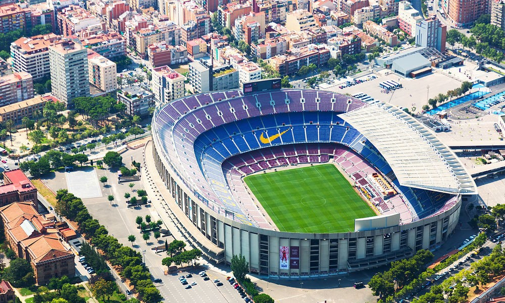 barcelona fc camp nou football stadiums