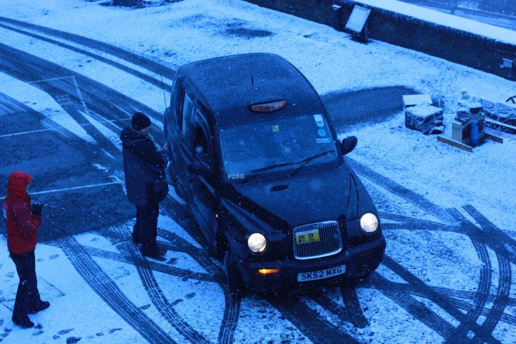 Black cab in Edinburgh