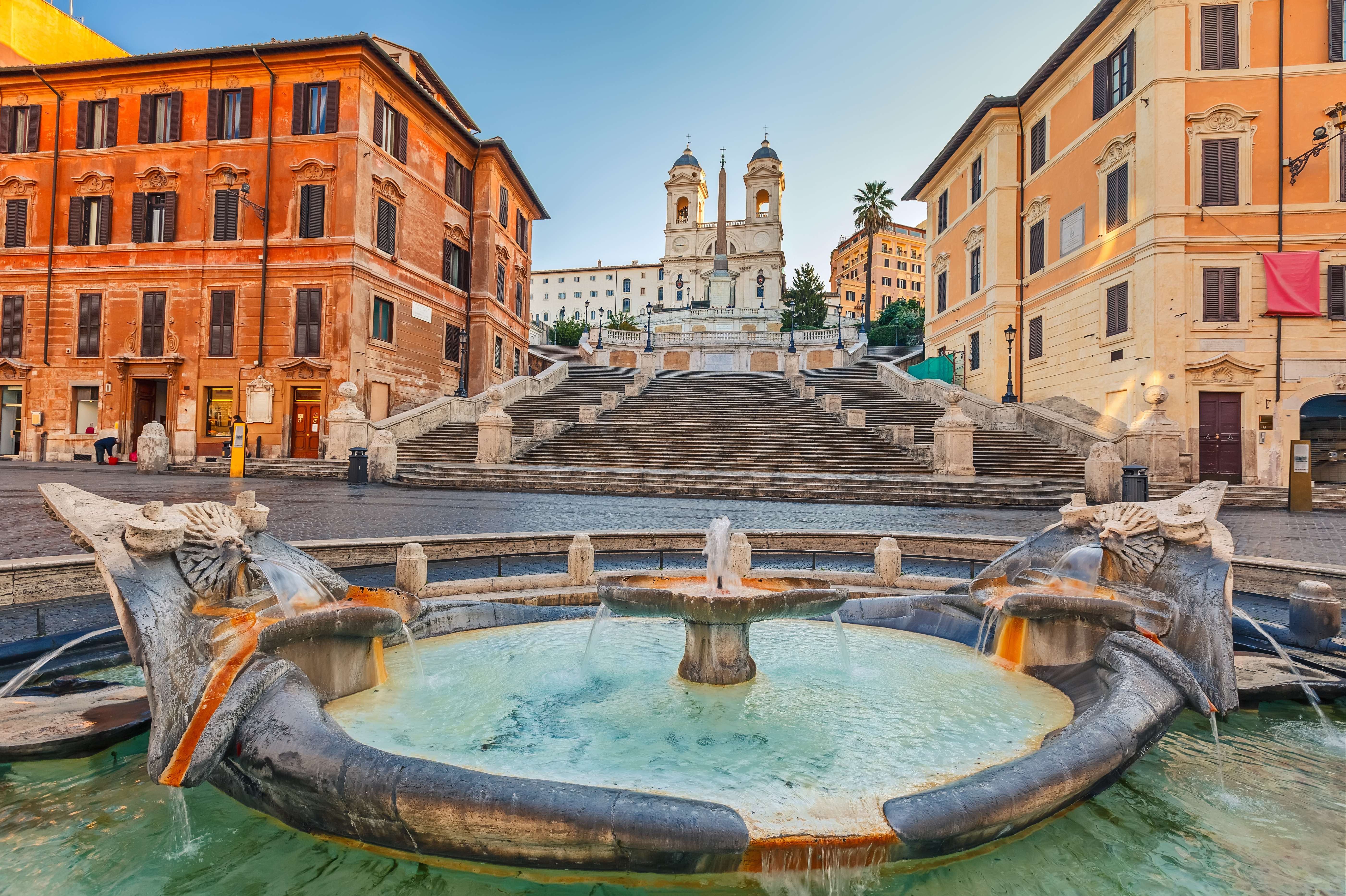 Barcaccia and Spanish Steps in Rome
