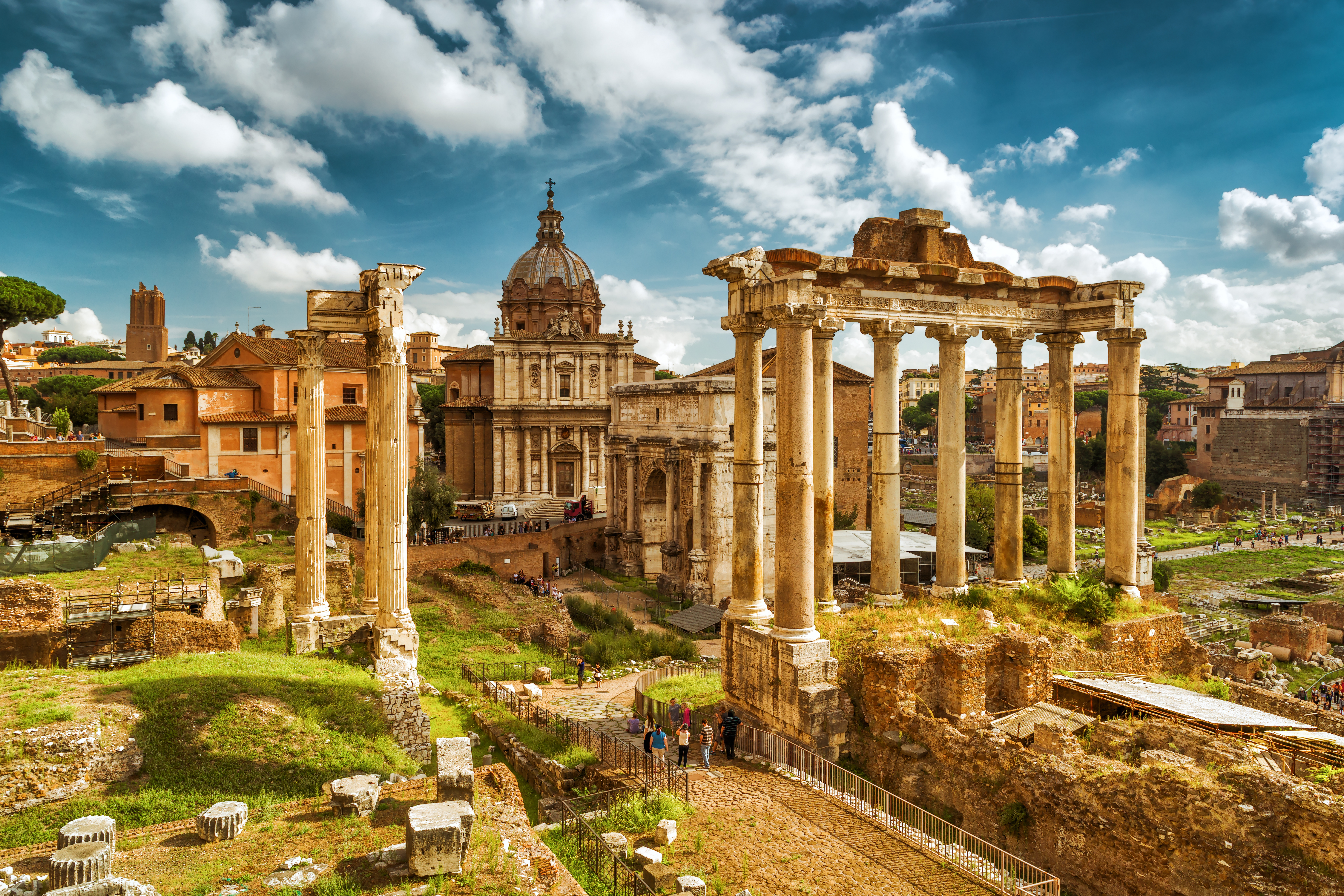 Roman Forum looking from the Capitoline Hill