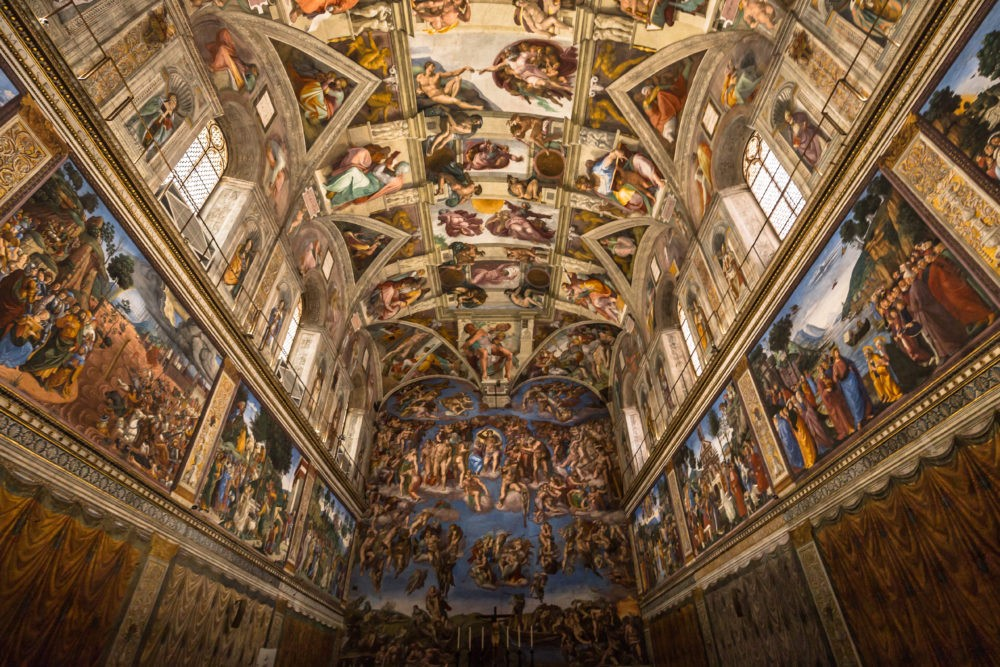 Michelangelo's work in the Sistine Chapel, Vatican City, Rome