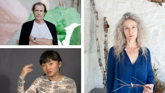 Franz West, Kiki Smith and Guan Xio