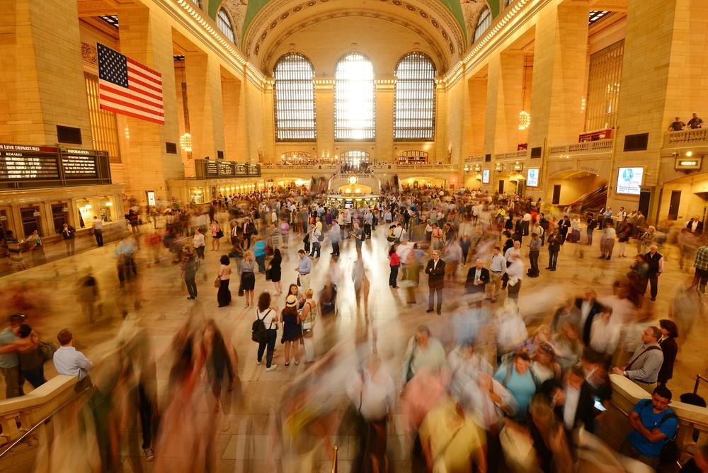 A bustling Grand Central Station